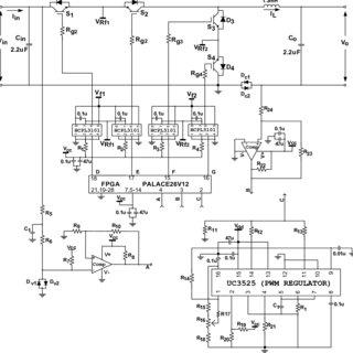 Basic circuit diagram of experimental four quadrants HF AC