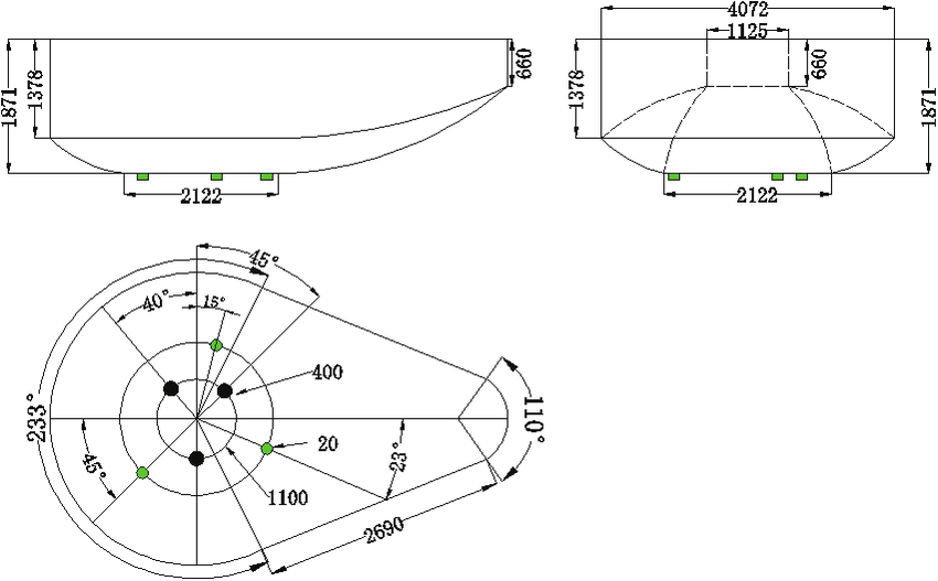 Geometry construction of 100 t EAF. (Online version in