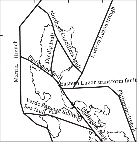 Simplified tectonic map of the Luzon Island (modified from