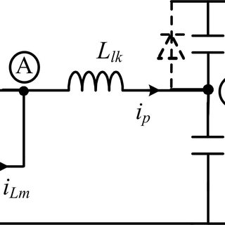 Circuit diagram of a phase-shifted full-bridge (PSFB