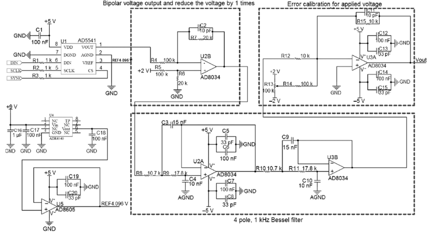 Circuit diagram of the low noise command voltage output