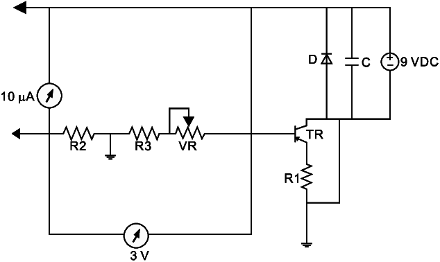 Schematic diagram of the electrical circuit used to