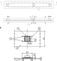 schematic diagrams of test section and heater assembly a test section 1 o [ 850 x 976 Pixel ]