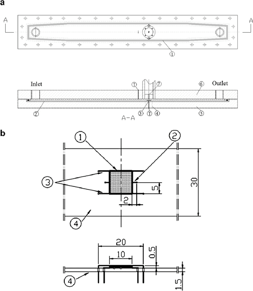 hight resolution of schematic diagrams of test section and heater assembly a test section 1 o