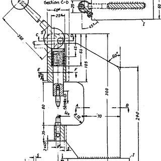 Sketch of lifting mechanism