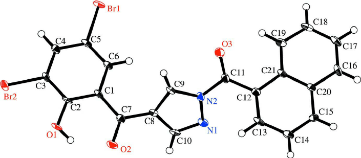 The molecular structure of the title compound, with