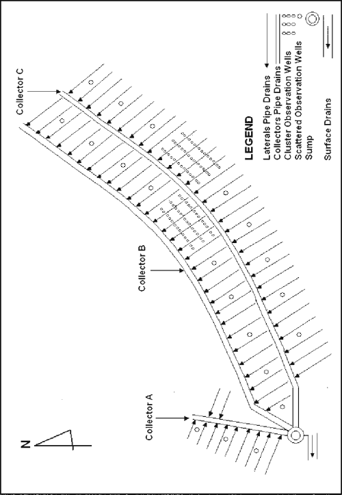 small resolution of layout of pipes and observation wells for khushab project after niazi 2008