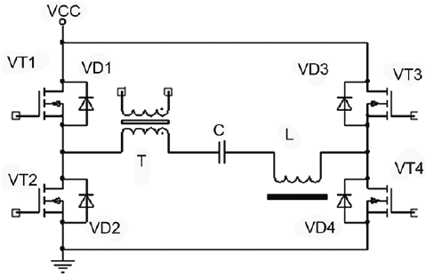Schematic diagram of the electric discharge circuit of the