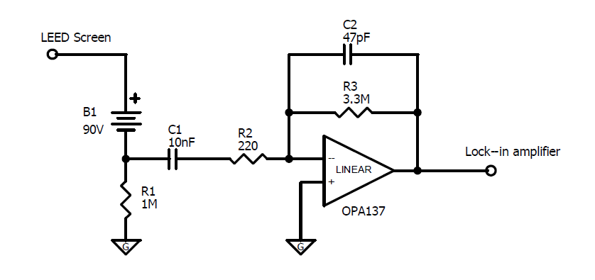 16: Circuit diagram of the home-made pre-amplifier for AES