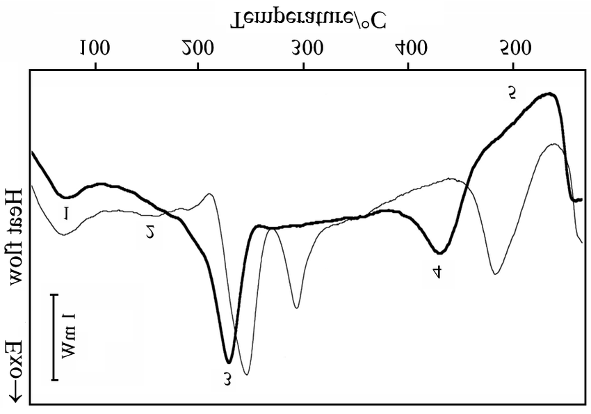 DSC curve of AA6082 disc samples punched after the
