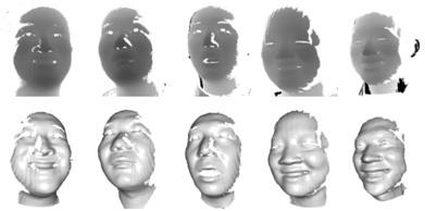 scanned faces using our