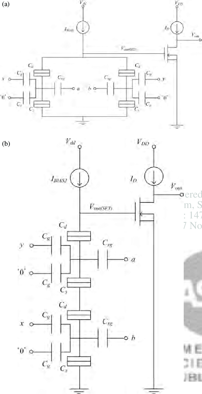hight resolution of circuit diagrams of proposed multi valued logic families using the set mos hybrid circuits with tg sets a parallel gate and b series gate