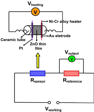 Fig. S1 Schematic diagram of the WS-30A gas-sensing