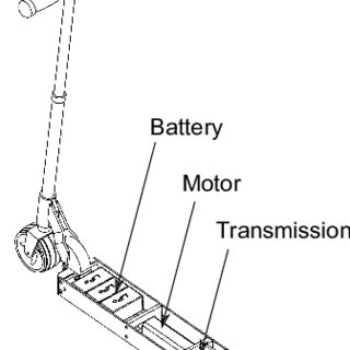 Integration of the motor in the kick scooter wheel