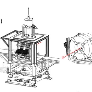 (a) Cross-sectional view of the PSI pressure cell; (b