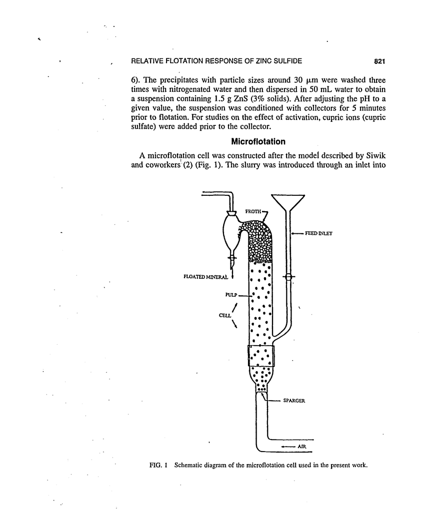 medium resolution of schematic diagram of the microflotation cell used in the present work