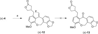 Scheme 5. Attempted synthesis of (±)-linoxepin (1). a