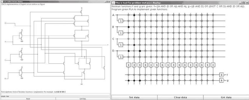 Examples of digital logic problems: CMOS implementation of