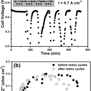 Electrochemical performances obtained from a LSGM (~200 μm