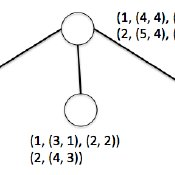 An example of pedigree graph with half-siblings