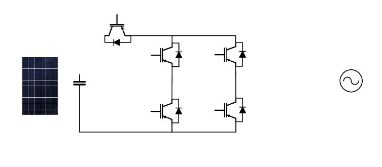 A typical configuration of the H5 transformerless inverter