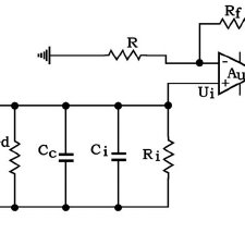 FIG. 2. The equivalent circuit of a piezoelectric sensor