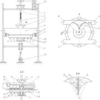 Aero-vibration-pulse machines. a) Rotor-hammer crusher; b