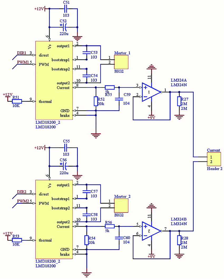 hight resolution of lmd18200 motor driver circuit download scientific diagram lmd18200 motor controller electronic project schematic