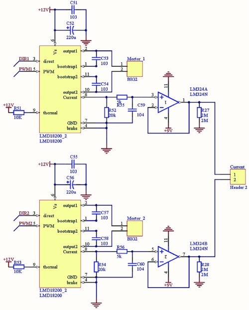 small resolution of lmd18200 motor driver circuit download scientific diagram lmd18200 motor controller electronic project schematic