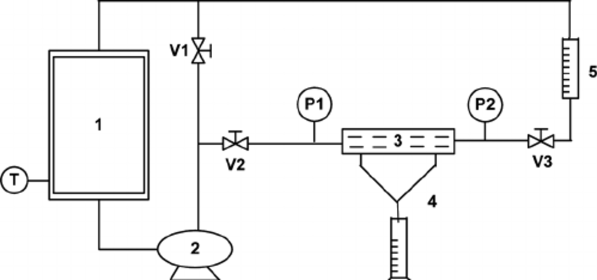 Schematic representation of experimental set-up for cross