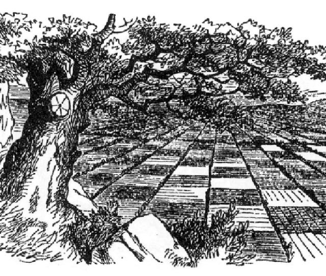 Original Drawing By Sir John Tenniel For Lewis Carrolls Through