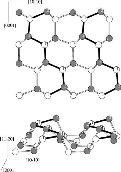 Top and side view of the ideal (112 ̄ 0) surface in 4H Ϫ