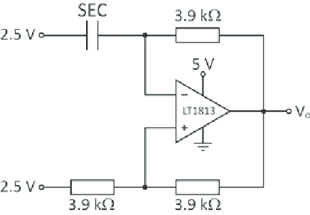 Schematic circuit diagram of the relaxation oscillator