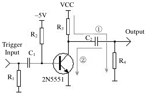 The circuit diagram of a pulse generator Fig. 2 is a