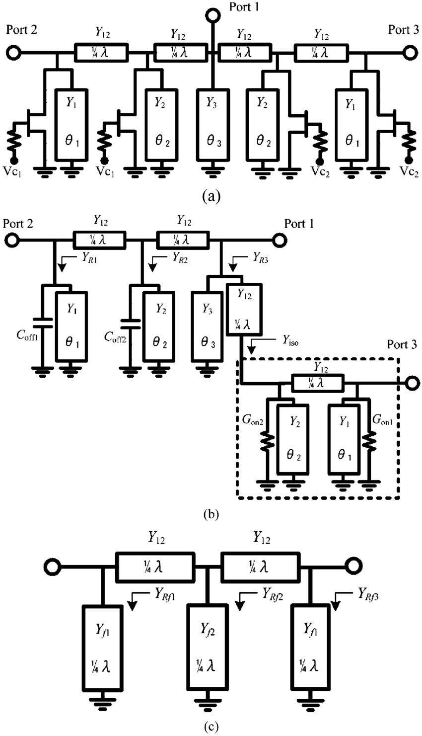 medium resolution of b illustrates the equivalent circuit of the spdt switch when is below