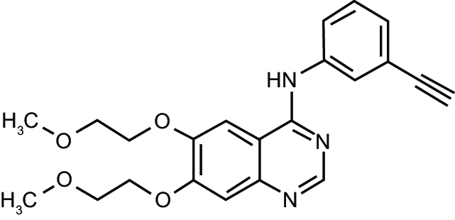 Erlotinib-chemical structure. Notes: Chemical name
