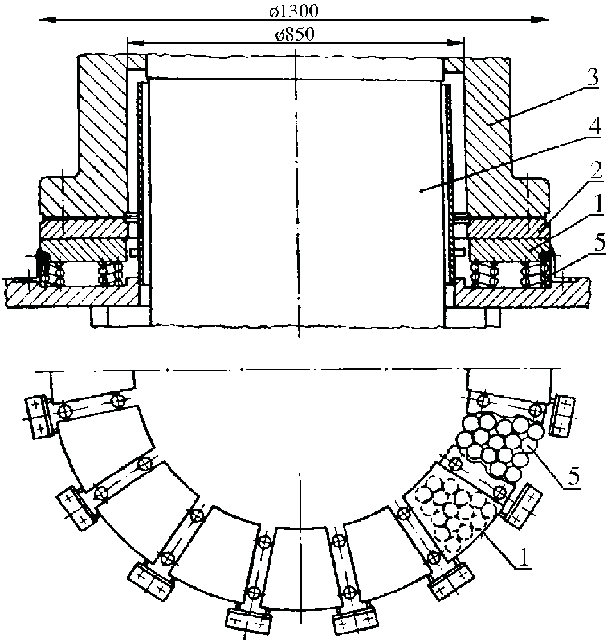 Thrust bearing of Francis-type reversible machine