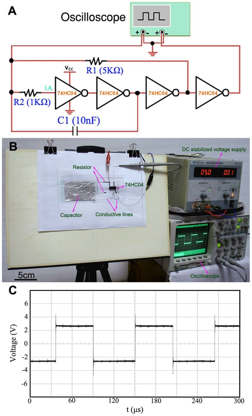 medium resolution of the typical lc oscillating circuit directly written on paper a an electric schematic diagram of the typical lc oscillating circuit