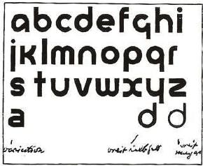 Herbert Bayer, Universal Alphabet, font design, 1925
