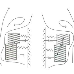 Two-mass models of the asymmetric vocal folds with time
