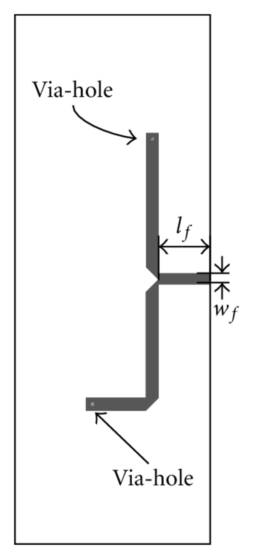 Sketch of the proposed Yagi-Uda antenna array with