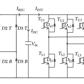 IGBT-diode inverter circuit with equivalent induction