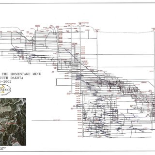 The long section of the former Homestake Gold Mine. This