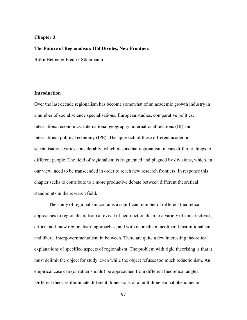 PDF The Political Economy Of Regionalism The Case Of Southern Africa