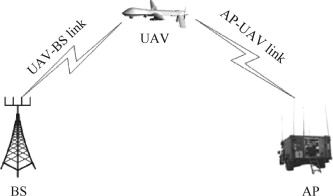 Application of a UAV as a relay in a wireless network