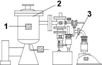 Schematic diagram of vertical vacuum distillation furnace