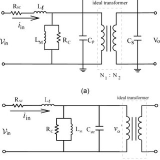 The equivalent circuit of transformer with stray