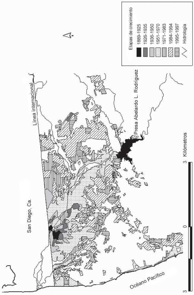 Etapas de crecimiento urbano en Tijuana, Baja California