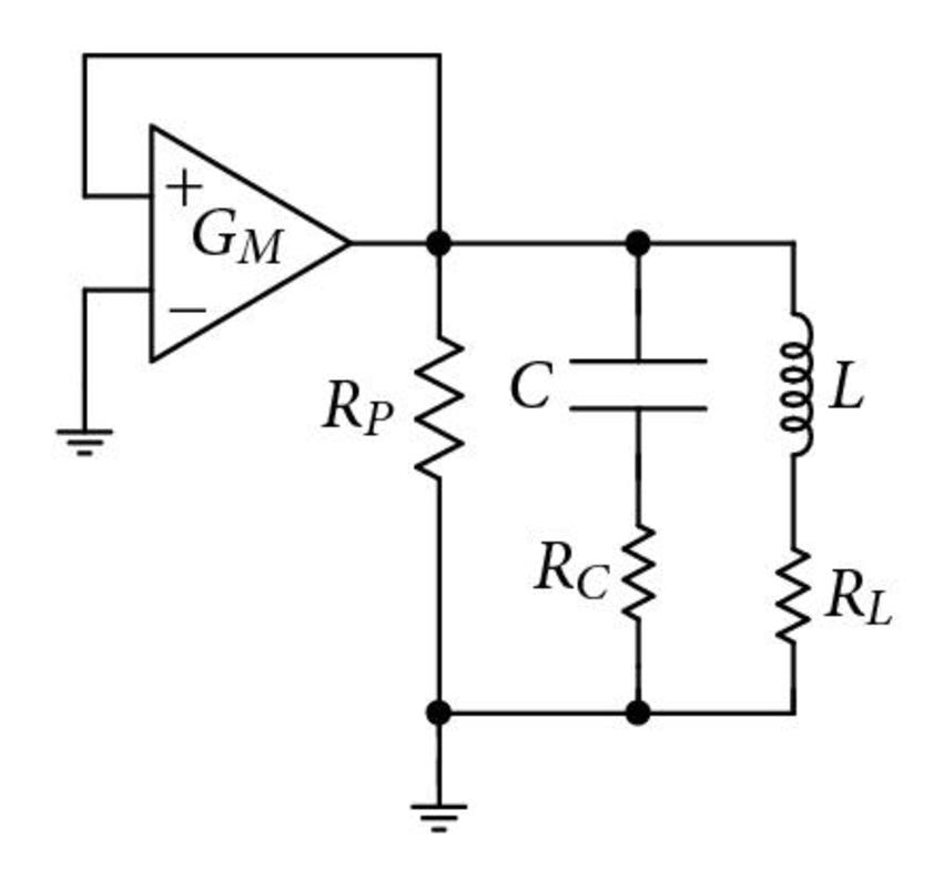 (a) Basic LC-tank oscillator configuration with tank