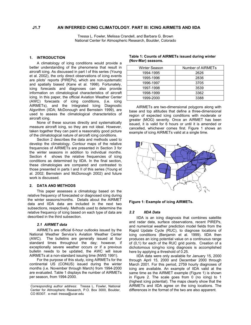 Figure 1 Example Of Icing AIRMETs Scientific Diagram